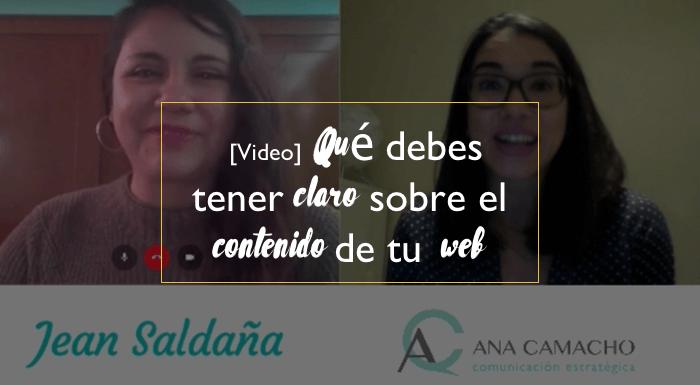 [Video] Qué debes tener claro sobre el contenido para tu web
